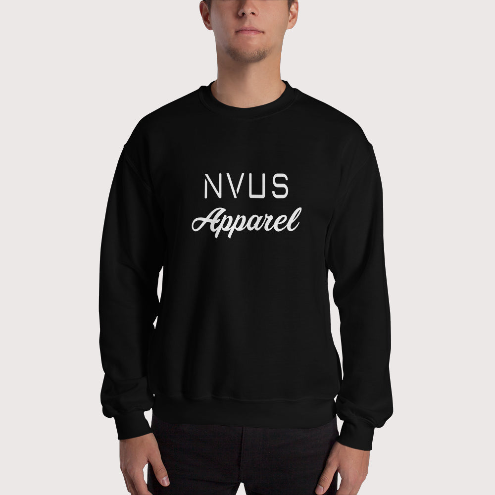Script Crewneck Sweater - Black
