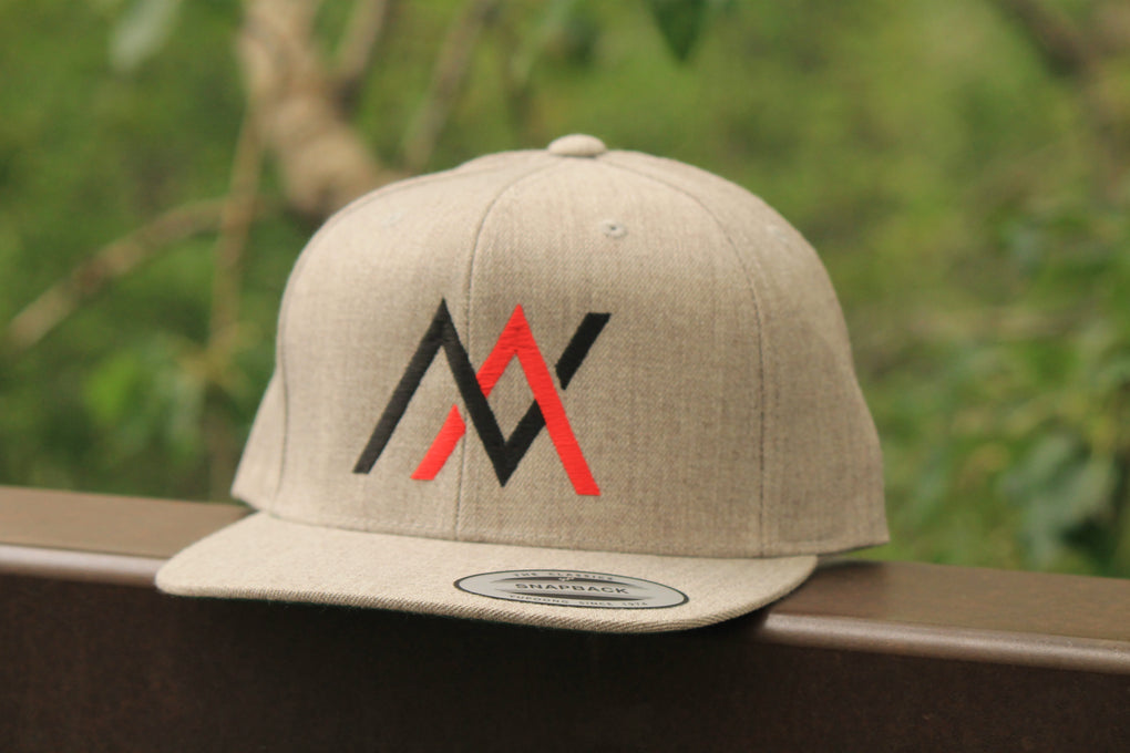 NVUS Snapback (Black/Red Embroidery)