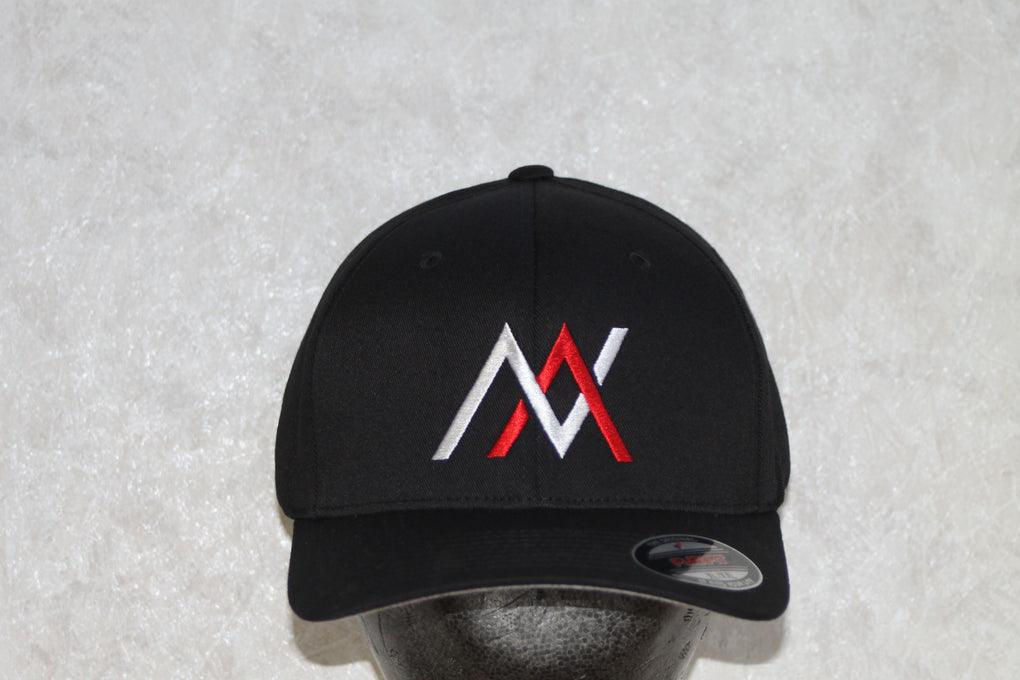 NVUS Flexfit Cap (White/Red Embroidery)
