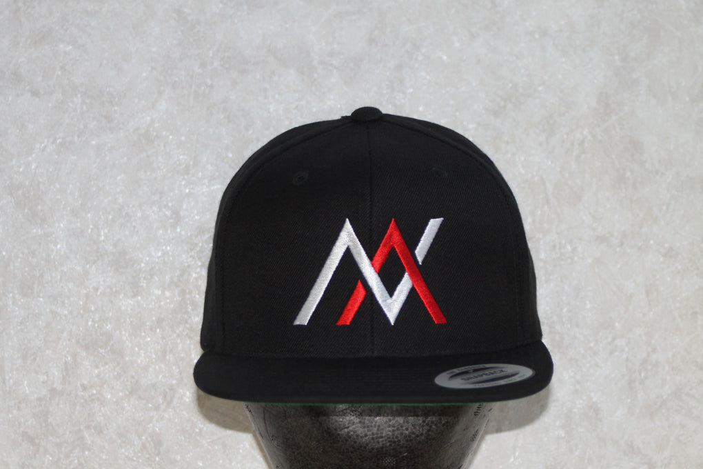 NVUS Snapback (White/Red Embroidery)
