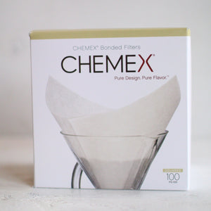 100 Count Chemex Bonded Filters - Pre-folded Squares