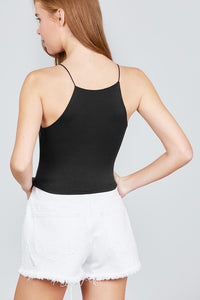 Night Out Black Halter Crop Top