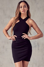 Load image into Gallery viewer, Gemini Black Bodycon Dress