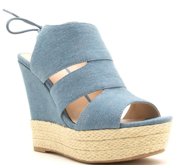 Dare Me Blue Wedges
