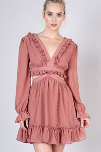 Wild Romance Dress in Rose