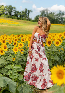 Field Of Dreams Two Piece Maxi Skirt Set