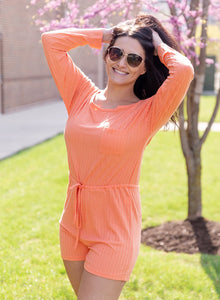Vacation Mode Apricot Romper