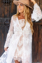 Load image into Gallery viewer, Lusting For You White Lace Cardigan