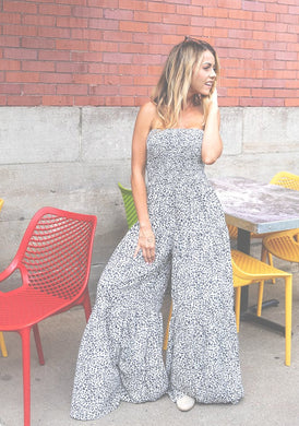 Feeling Wild Wide Leg Printed Jumpsuit