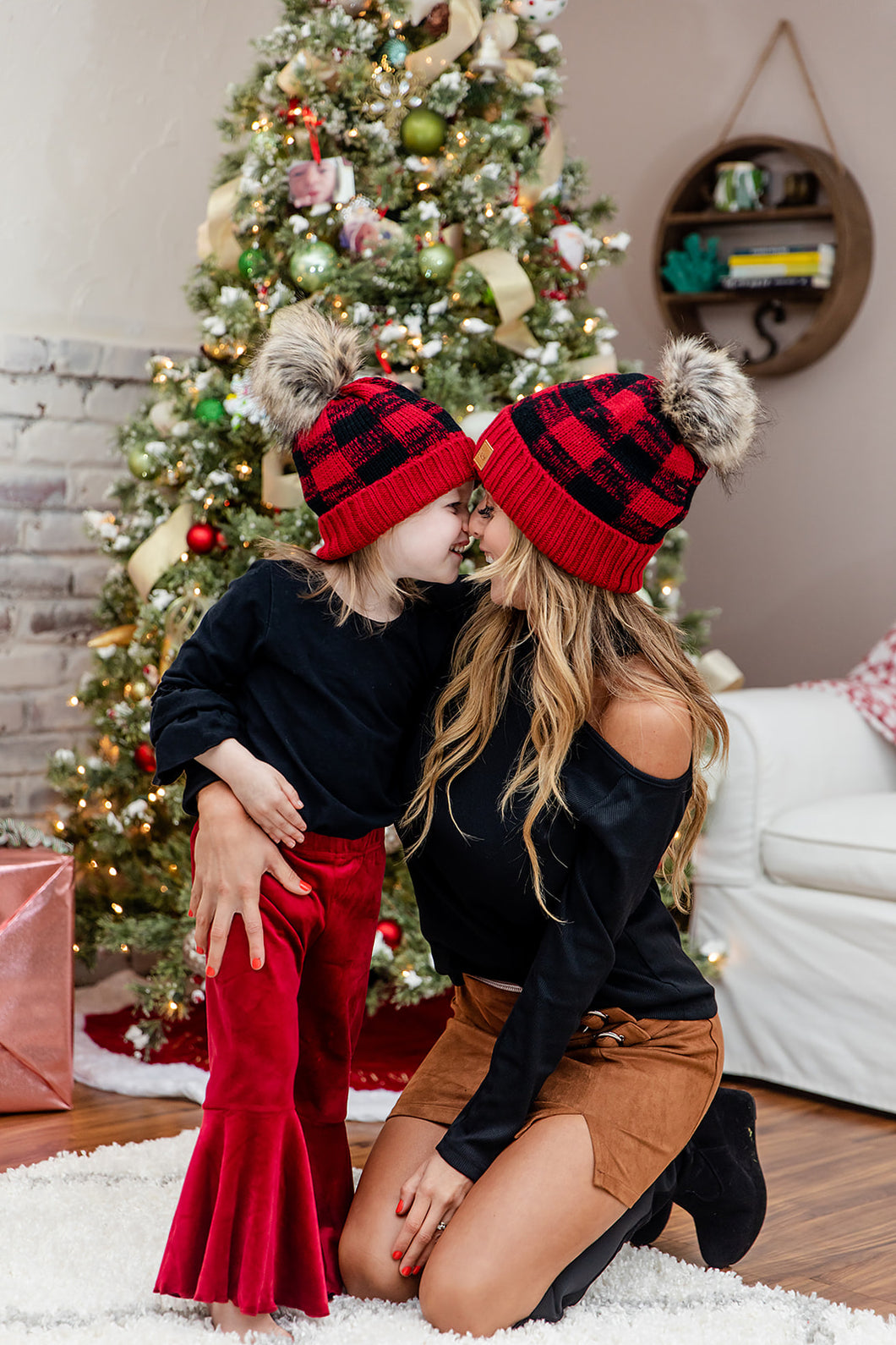 Mommy and Me Christmas Beanies
