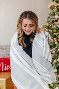 Honey I'm Home Grey Blanket Scarf