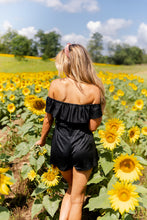 Load image into Gallery viewer, Staycation Romper In Black