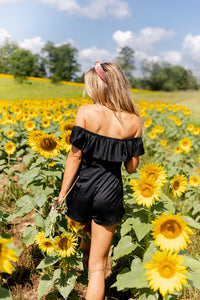 Staycation Romper In Black