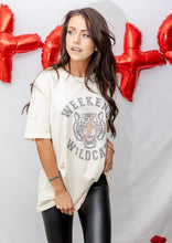 "Load image into Gallery viewer, ""Weekend Wildcat"" Oversized Vintage Tee"