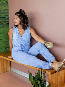 Feeling Good Blue Tye-Dye Jumpsuit
