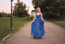 Load image into Gallery viewer, Fearless Blue Maxi Dress