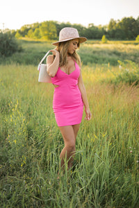 A Hot Minute Pink Cut Out Bodycon