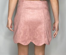 Load image into Gallery viewer, Oh Dang Suede Skirt in Blush