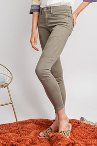 Olive Or Twist Moto Jeans