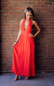 Every Little Thing Red Maxi Dress
