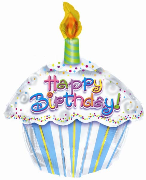 Load image into Gallery viewer, Happy Birthday Cupcake Balloon