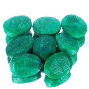 1 Kilo+ 8 Pcs Huge Natural Emerald Finest Green Carved Gems 57mm-65mm - 5754 Cts: Clothing