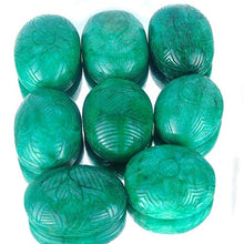 Load image into Gallery viewer, 1 Kilo+ 8 Pcs Huge Natural Emerald Finest Green Carved Gems 57mm-65mm - 5754 Cts: Clothing