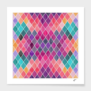 Watercolor Geometric Patterns  Frame