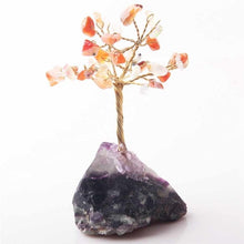 Load image into Gallery viewer, 8CM Tall Crystal Lucky Money Stone Tree Figurine Ornaments Feng Shui