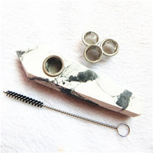 Load image into Gallery viewer, Natural Quartz Smoking Pipe  Crystal Point Wand Healing Crystal gemstoneWith Metal Filter