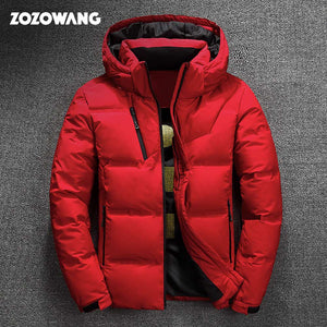 ZOZOWANG High Quality White Duck Thick Down Jacket men coat  Outerwear