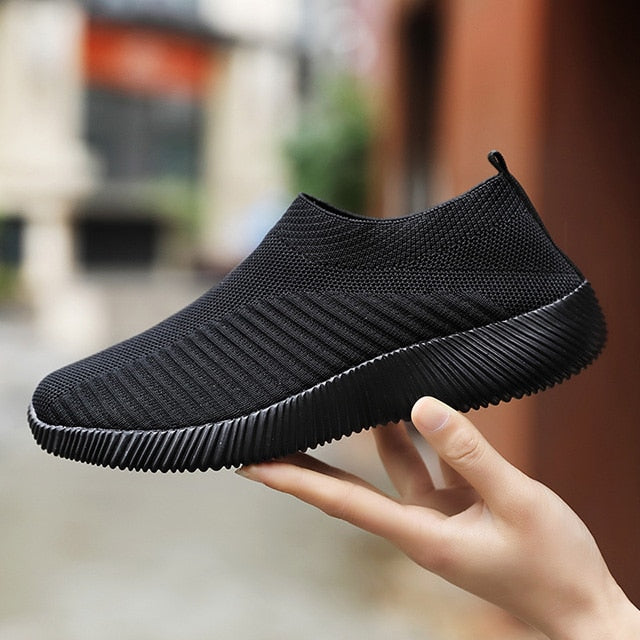 Women Sneakers New Vulcanize  Knitting  Comfort Loafers