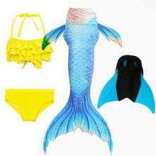 Load image into Gallery viewer, NEW Arrival!Fancy Mermaid tails with/No Fins Monofin Flipper mermaid swimming tails for Kids Girls Summer Beach Wear Swimsuits