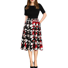 Load image into Gallery viewer, Autum Floral Casual Stylish Elegant Print Charming  O Neck 3/4 Sleeve