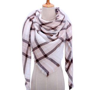 Designer 2019 knitted spring winter women scarf plaid warm cashmere scarves  wrap