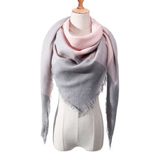 Load image into Gallery viewer, Designer 2019 knitted spring winter women scarf plaid warm cashmere scarves  wrap