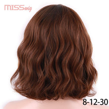 Load image into Gallery viewer, MISS WIG Short Water Wave Synthetic Hair 8Colors  Available Wig For Women Heat Resistant Fiber Daily Full False Hair