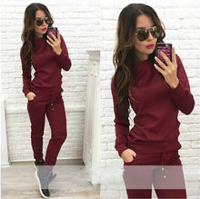 Load image into Gallery viewer, New Arrive Women Tracksuit 2 Piece Set Top And Pants Women's Sweatshirt Set Sport Fashion Casual Cotton Long Sleeve Sets XM588
