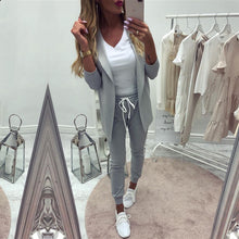 Load image into Gallery viewer, Taotrees Women's Sports Suit spring tracksuit female lapel blazer jacket+pant two piece outfits