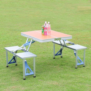Outdoor Folding Table Chair   Camping Aluminium Alloy Picnic Table Waterproof Ultra-light Durable