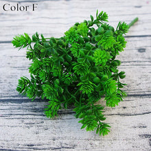 Load image into Gallery viewer, 7 forks 28 Heads Branch Succulent Plants Artificial Fall Leaves Flores DIY Artificiais Wedding Decoration Plant Fake Flowers