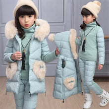 Load image into Gallery viewer, 2019 new children's clothing fall winter girl new three-piece suit cotton padded jacket