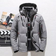 Load image into Gallery viewer, High quality men's winter jacket thick snow parka overcoat white duck down  wind breaker