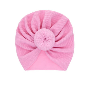 NISHINE New Mommy And Me Cotton Blend Handmade Hat Women Caps Baby Girls Turban Hats Twist Knot Headwear Hair Accessories