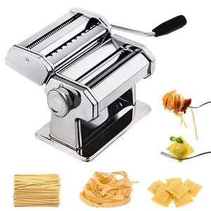 Noodle Pasta Maker Stainless Steel Lasagne Spaghett Ravioli Dumpling Maker Machine With Two Cutter
