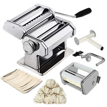 Load image into Gallery viewer, Noodle Pasta Maker Stainless Steel Lasagne Spaghett Ravioli Dumpling Maker Machine With Two Cutter