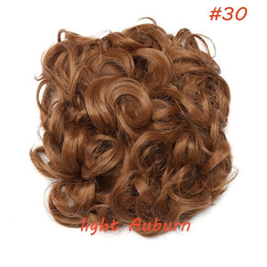 S-noilite LARGE Comb Clip In Curly Synthetic Hair Pieces