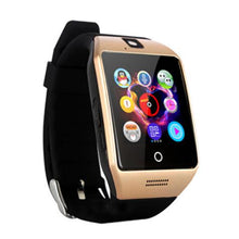 Load image into Gallery viewer, Bluetooth Smart Watch men Q18 With Camera Facebook Whatsapp Twitter Sync SMS Smartwatch Support SIM TF Card For IOS Android
