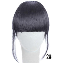 Load image into Gallery viewer, HAIR 4Color Clip In Hair Bangs Hairpiece Synthetic Fake Bangs Hair Piece Clip In Hair Extensions