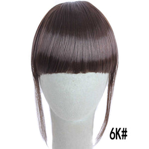 MERISI HAIR 4Color Clip In Hair Bangs Hairpiece Synthetic Fake Bangs Hair Piece Clip In Hair Extensions